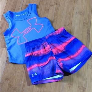 Under Armour Big Logo Horizon Tank & Shorts Set 2T